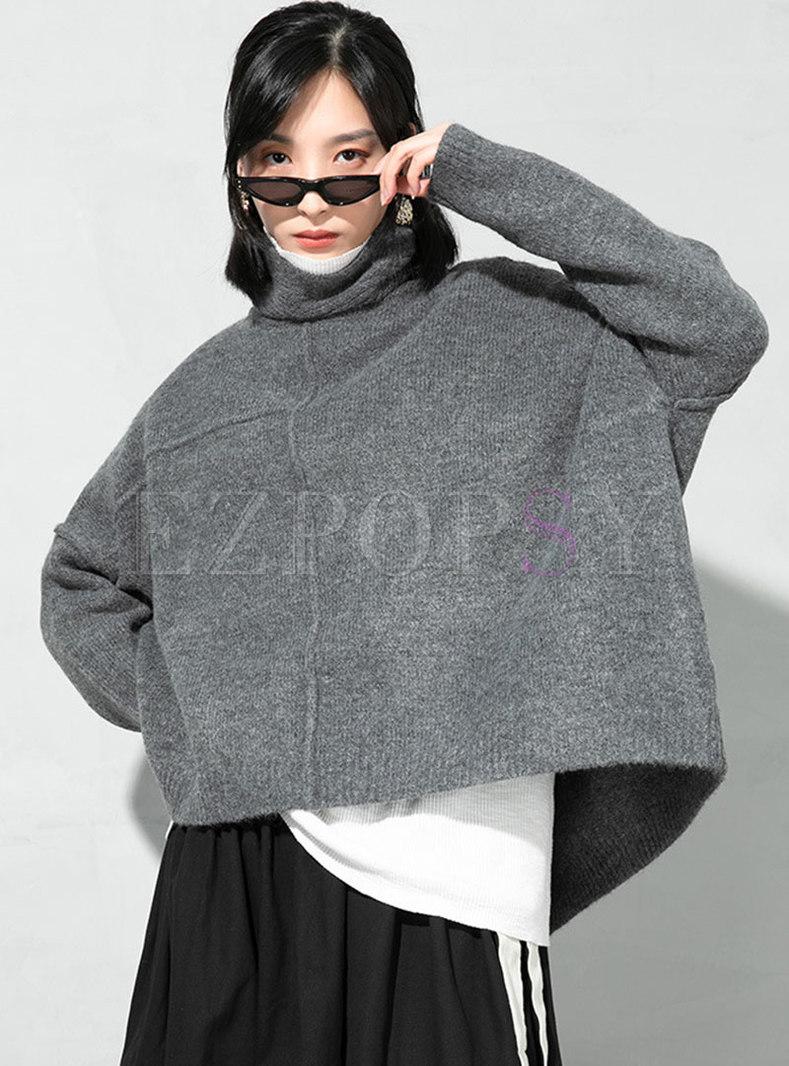Turtleneck Pullover Plus Size Sweater