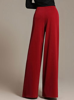 High Waisted Casual Wide Leg Pants