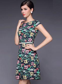 Floral Print A-Line Dress