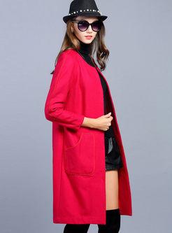 Solid Color Single Breast Elegant Coat
