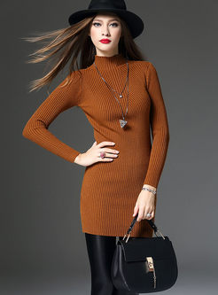 High-End Slim Long Sweater