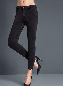 Fashion Pure Color Slim Pants