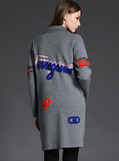 Thick Embroidery Long Coat