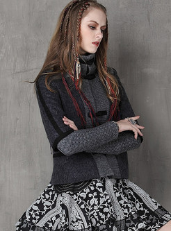 Stand Collar Cashmere Short Coat