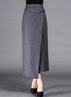 Skirts Skirts Retro Asymmetric Patch Long Skinny Skirt