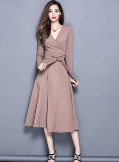 Elegant V-neck Tops & A-line Skirt Suits | Ezpopsy.com