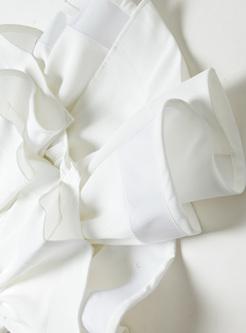 Elegant White Slim Mermaid Skirt