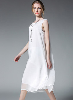 Casual Loose Chiffon Shift Dress