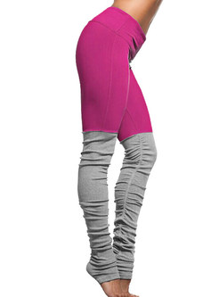 Comfortable Elastic Hit Color Fitness Stirrup Leggings