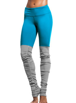 Comfortable Elastic Hit Color Fitness Stirrup Leggings