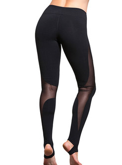 Elastic Dry Fit Patchwork Running Yoga Sport Pants