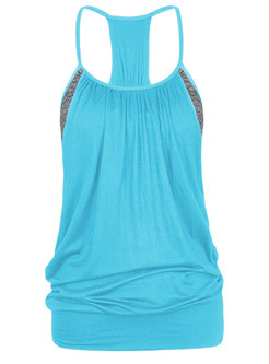 Fake Two Piece Dry Fit Sport Top