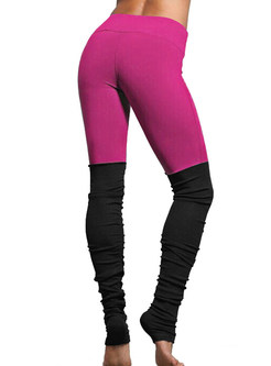 Slim Elastic Dry Fit Patchwork Yoga Fitness Pants