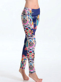 Ethnic Print Tight Yoga Bottoms
