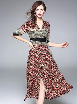 Half Sleeve Maxi Dress
