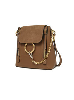 Stylish Circle Chain Push Lock Backpack