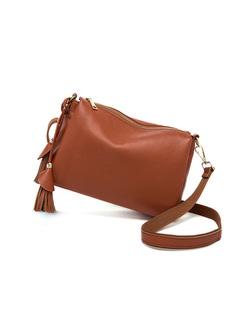 Retro Leather-tassel Crossbody Bag