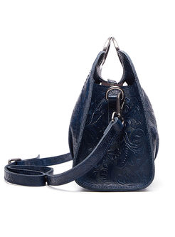 Retro Genuine Leather Top Handle & Crossbody Bag
