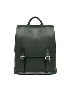 Brief Preppy Style Fashion Buckle Backpack