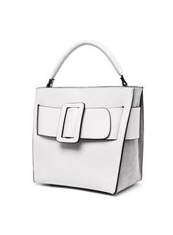 Stylish Popular Buckle Cowhide Crossbody & Top Handle Bag