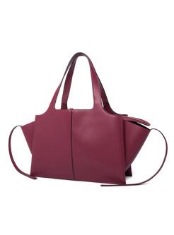 Vintage High-capacity Zipper Pocket Top Handle Bag