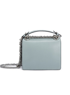 Rivets Chain Clasp Lock Crossbody & Top Handle Bag