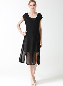 Loose shift cocktail dress