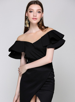 Sexy V-neck Falbala Pullover Blouse