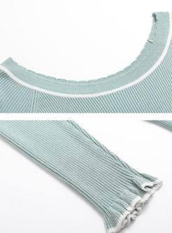 Elegant Slim Long Sleeve Knitted Sweater