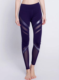Symmetric Mesh Stitching Sports Bottom