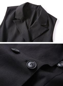 0c9b6b0b8fbbc ... Work Double-breasted Sleeveless Slim Vest