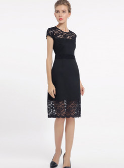 Sexy Lace High Waist Bodycon Dress