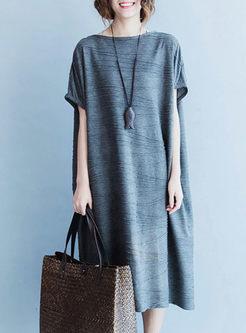Casual Fashion Short Sleeve Loose Shift Dress