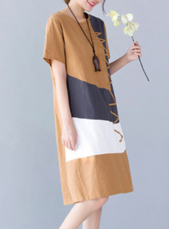 Fashion Loose Short Sleeve T-shirt Dress