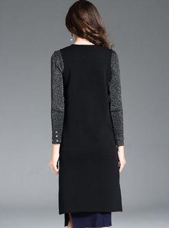 Casual Sleeveless Slit Knitted Vest