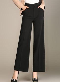 Black Brief Loose Wide Leg Pants