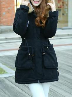68a9654cb00fd ... Hooded Winter Coats Faux Fur Coat Outdoor Parka Jacket ...