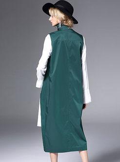 Stylish Single-breasted Asymmetric Turtle Neck Vest