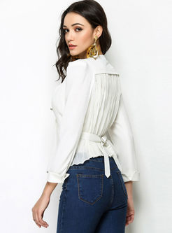 Work Fashionable Deep V-neck Short Blazer