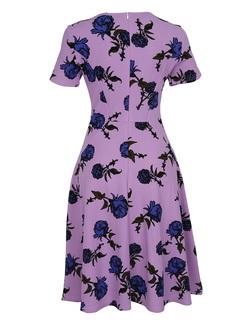 Street Print V-neck A-line Dress