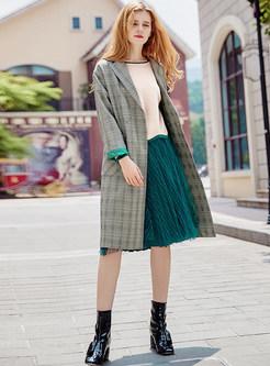 Mesh Elastic Waist Pleated Skirt