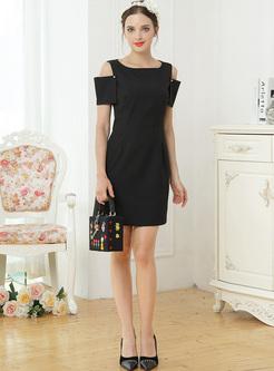 Brief Off Shoulder Mini A-line Dress