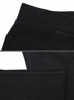Brief Slim Edging Pencil Pants