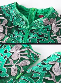 Vintage Embroidery Improved Cheongsam Dress