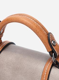 Vintage Color-blocked Top Handle & Crossbody Bag