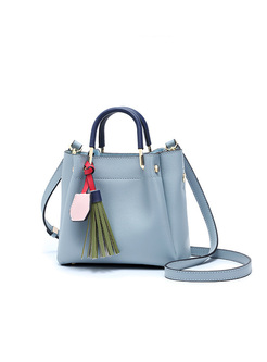 Casual Tassel Top Handle & Crossbody Bag