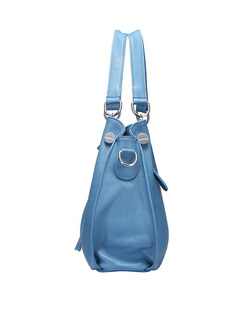 Casual Tassel Cow Leather Top Handle & Tote Bag