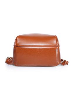 Casual Zipper Pocket Backpack