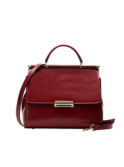 Brief Magnetic Lock Top Handle & Crossbody Bag