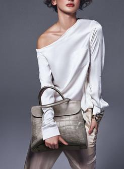 Brief Cowhide Top Handle & Crossbody Bag